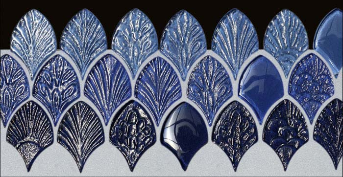 blue and white mosaic tiles ambienti