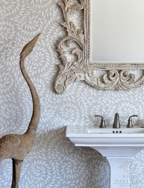 natural stone waterjet mosaic bathroom