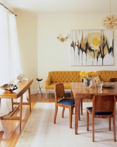 yellow and grey living dining  room 3