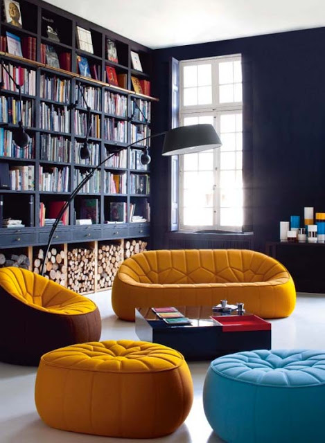 yellow and black living room 2
