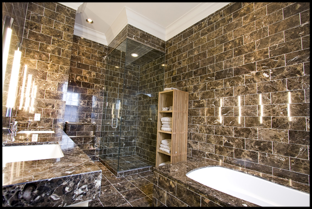 44 Best Luxury Marble Bathrooms : black marble bathroom from decoholic.org size 640 x 429 jpeg 338kB