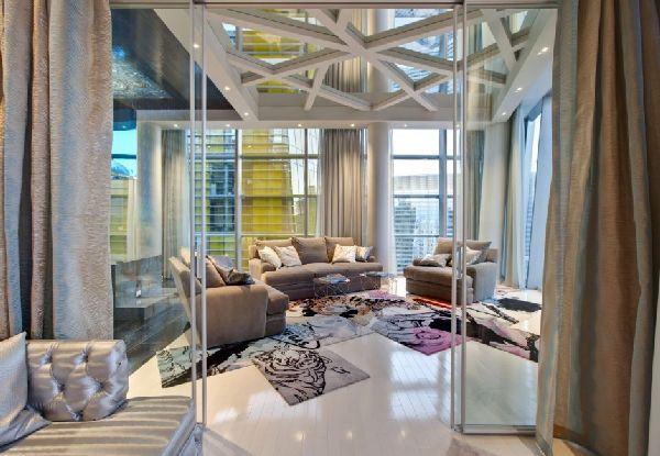 stunning penthouse interior by Mark Tracy