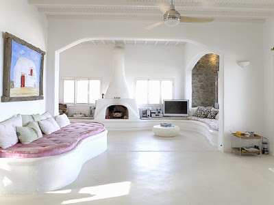 white greek holiday villa in mykonos