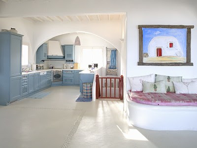 lucury holiday villa in mykonos greek island kitchen design