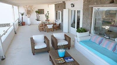 lucury holiday villa in mykonos outdoor