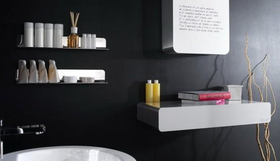 black bathroom interior design ideas 11