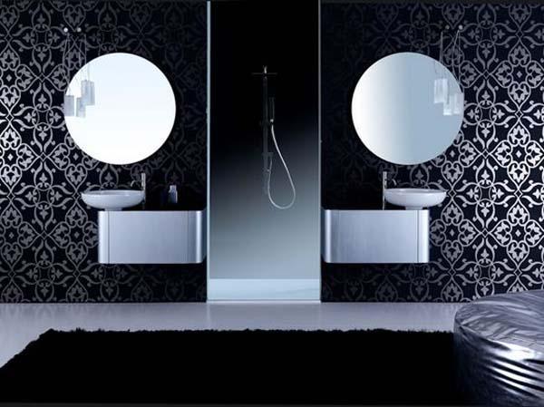 black bathroom interior design ideas 16