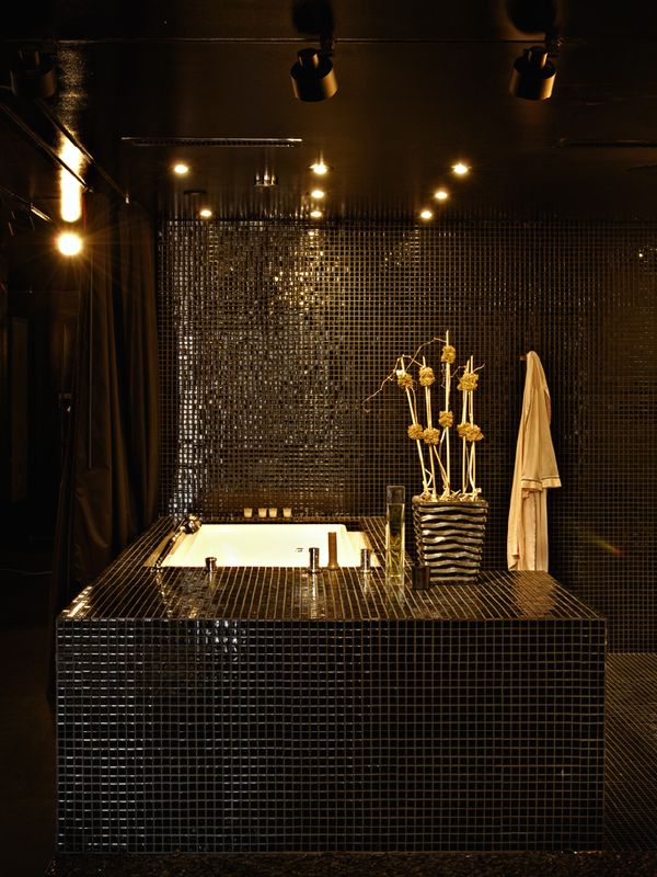 Amazing black bathroom designs for Black bathroom designs
