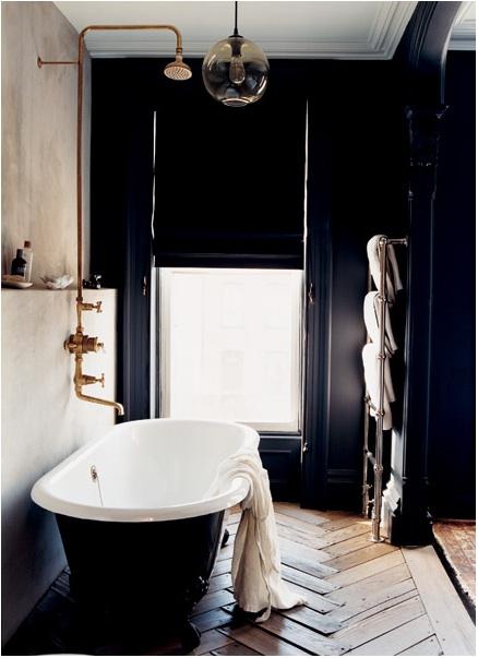 black bathroom interior design ideas 12