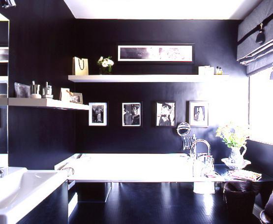 black bathroom interior design ideas 4