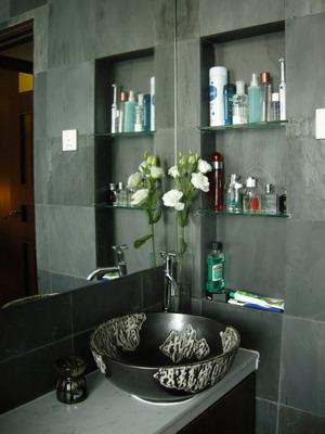 black bathroom interior design ideas 13