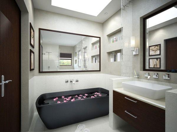 black bathroom interior design ideas 14