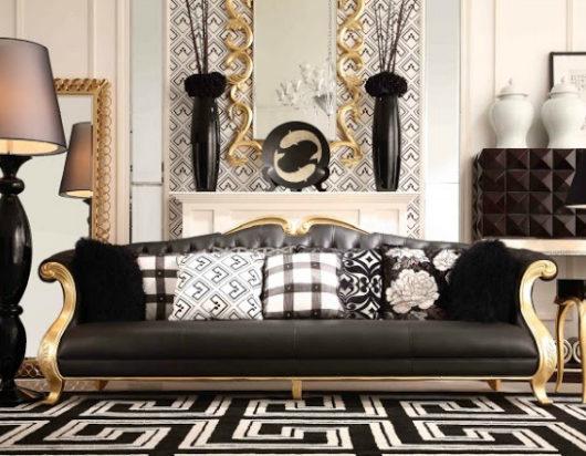 modern golden Living Room 2
