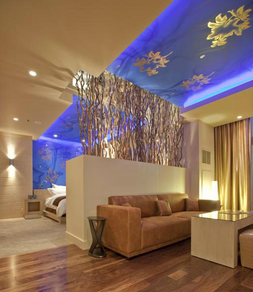 modern golden Living Room 6