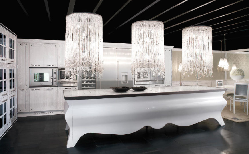 Contemporary kitchens with island decoholic for Modern kitchen lighting design