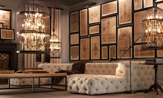 amazing brown living rooms by Restoration Hardware 5