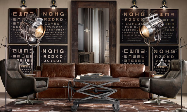 amazing brown living rooms by Restoration Hardware 3