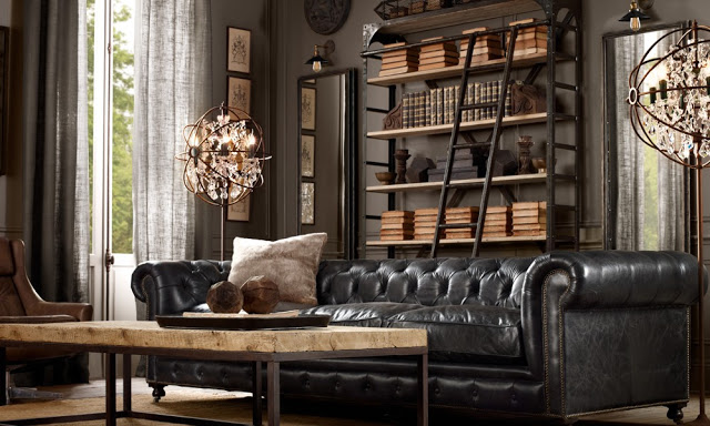 amazing brown living rooms by Restoration Hardware 7