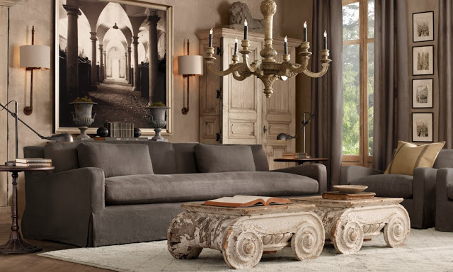 amazing brown living rooms by Restoration Hardware 8