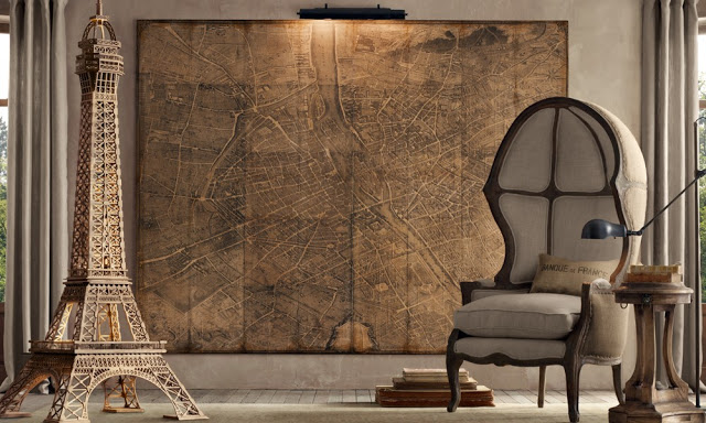 amazing brown living rooms by Restoration Hardware 10