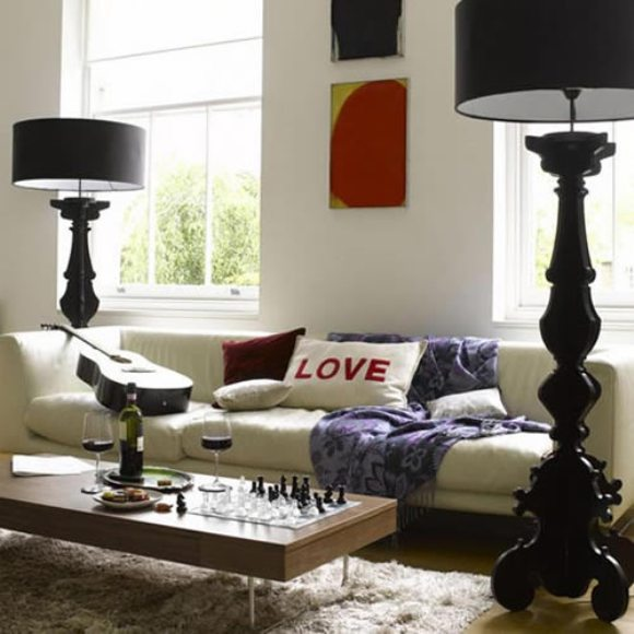 Modern floor lamps decoholic for Rooms to go living room