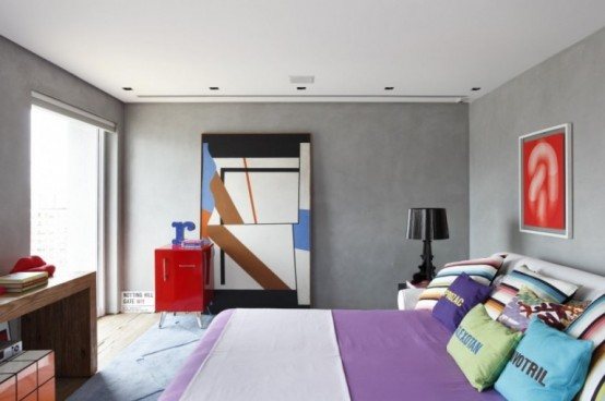 Colourfull Penthouse in Sao Paolo by Guillermo Torres 12