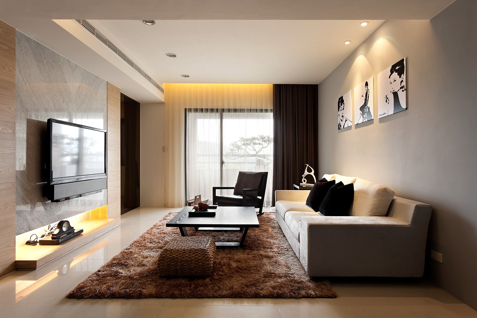 Modern living room design ideas for Modern apartment living