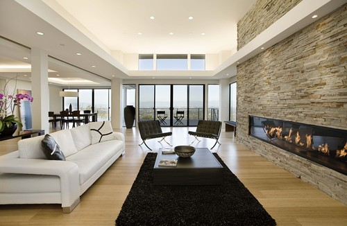 Beautiful modern living room designs decoholic - Living room contemporary fireplace design ...