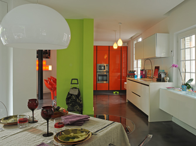 modern colorful interior design