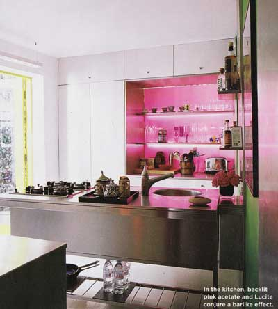 pink inox kitchen