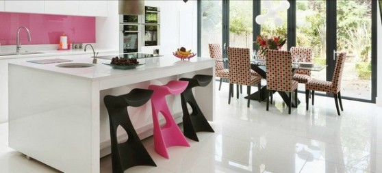pink kitchen design 22