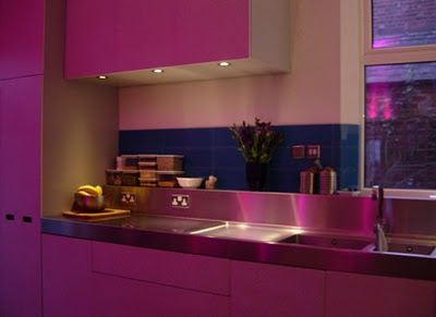 calm pink kitchen design