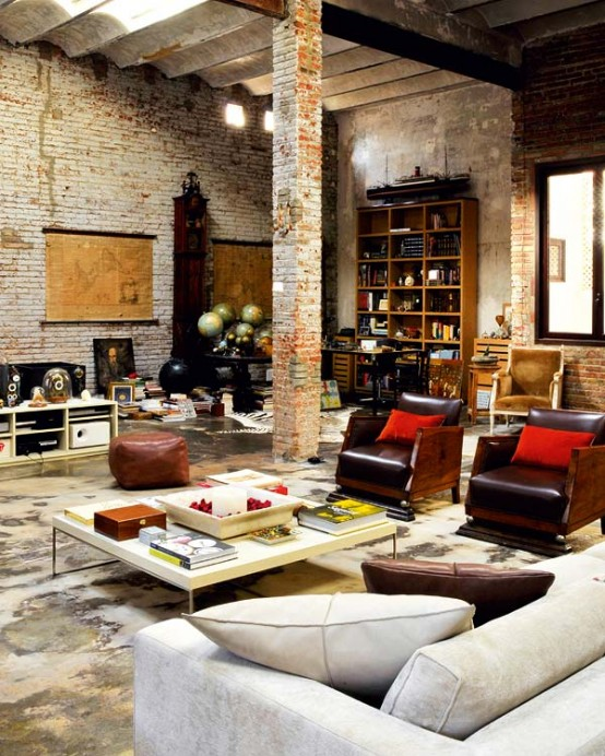 15 Amazing Interior Design Ideas For Modern Loft: Modern Renovated Loft With Industrial Interior Design