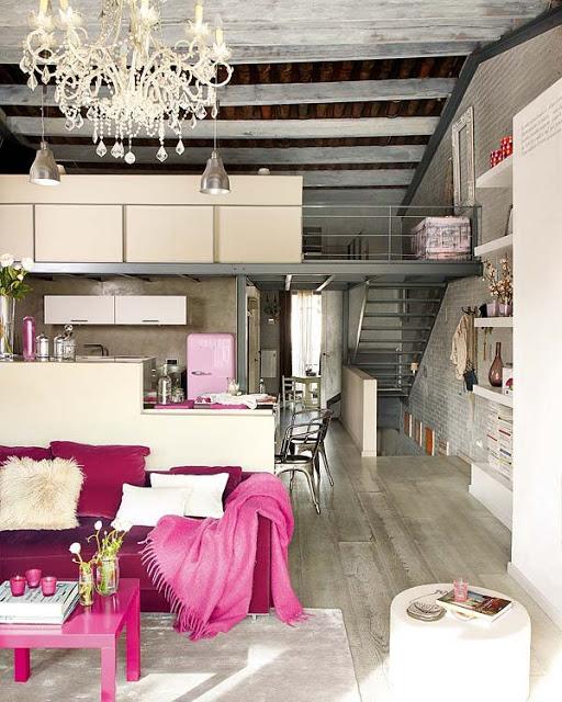 pink loft in barcelona 1