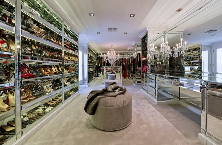 Amazing Modern Walk In Closet Unique And Celebrity Walk In Closets Decoholic