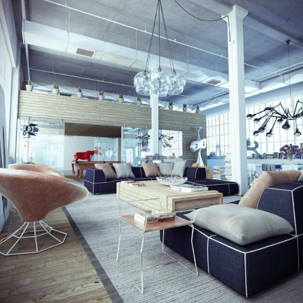 Industrial loft by ando-studio 2