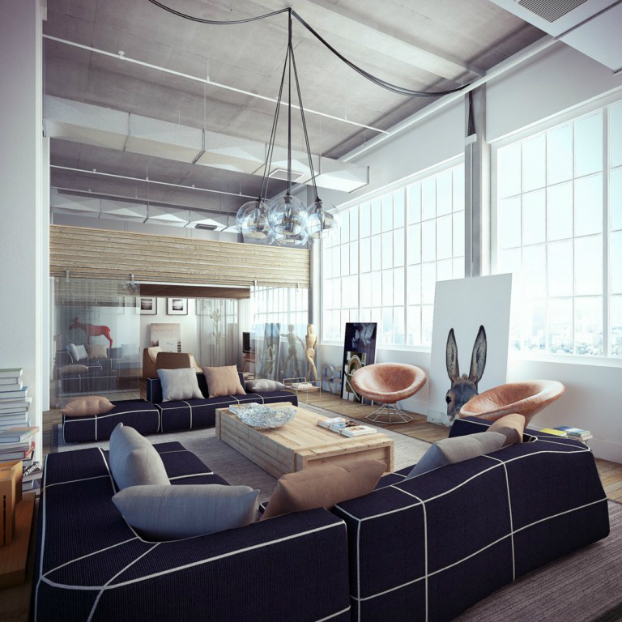 Industrial loft by ando-studio