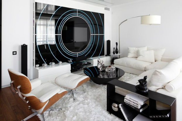 Black and White House by Geometrix interior Design