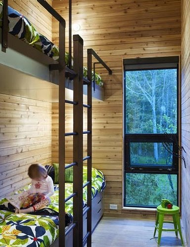 Four Kids One small Room Bunk Beds modern design ideas