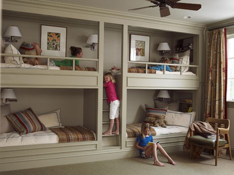 Four Kids One Room Bunk Beds - Interior Design Ideas, Home Designs ...