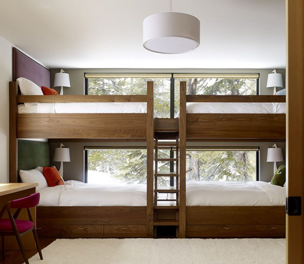 Four Kids One Room Bunk Beds modern design ideas 2