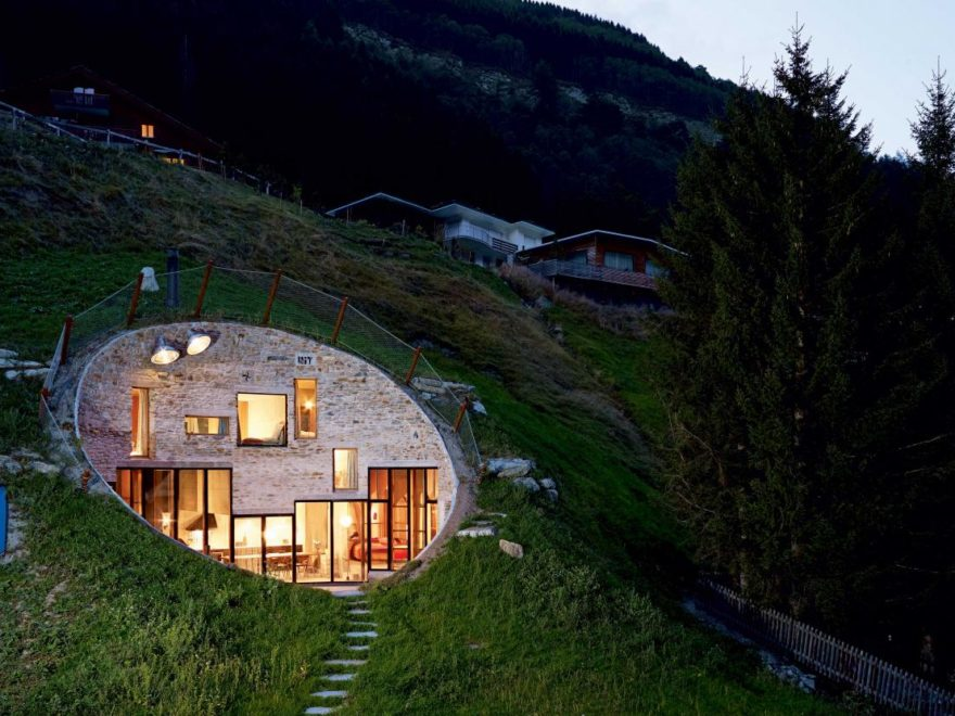 House Inside a Hill of Vals Switzerland by Christian Müller