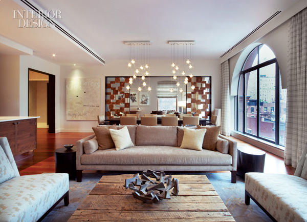 Apartment in new york by betty wasserman decoholic for Bronze living room ideas