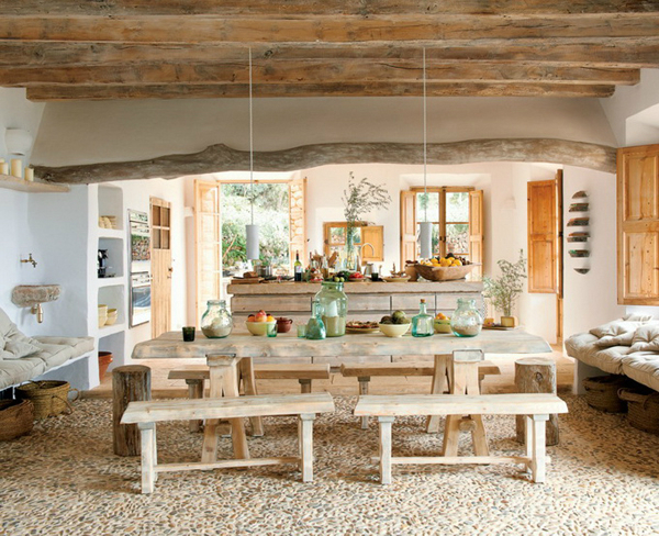 country kitchen Cave House in Majorca