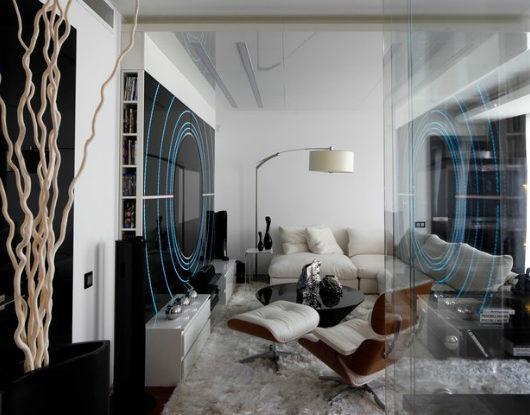 Black and White House by Geometrix interior Design 2