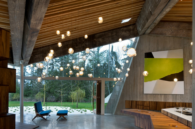 Modern House interior design by Omer Arbel Office 12