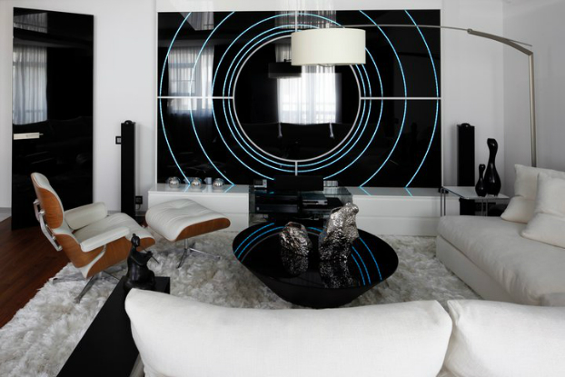 Black and White House by Geometrix interior Design 5