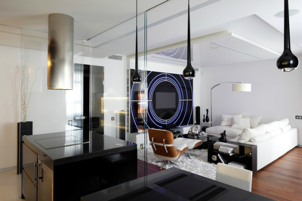 Black and White House by Geometrix interior Design 8