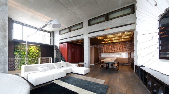 Loft Apartment in Ukraine and designed by 2B Group