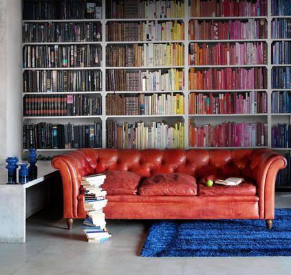 fake Bookshelf Wallpaper design 4